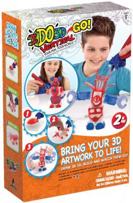 Ручка 3D Вертикаль GO REDWOOD 3D 2 ручки Робот красный/синий
