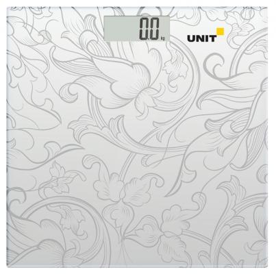 Весы напольные Unit UBS-2053 серый рисунок весы напольные электронные unit ubs 2053 светло серый