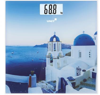 Весы напольные Unit UBS-2055 рисунок синий CE-0462768