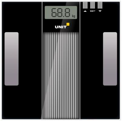 Весы напольные Unit UBS-2210 чёрный серый unit ubs 2053 light gray весы напольные электронные
