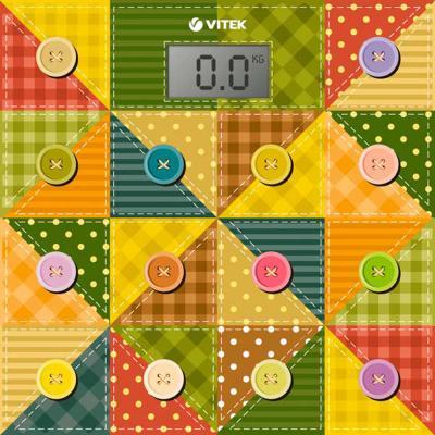 Весы напольные Vitek VT-1957(OG) разноцветный рисунок цена