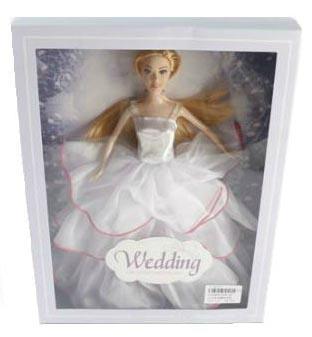 Кукла Shantou Gepai 29 см в белом свадебном платье , кор.