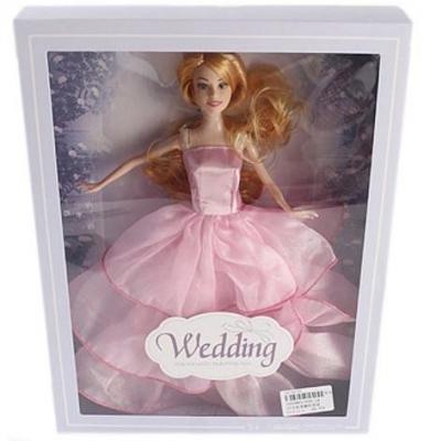 Кукла Shantou Gepai 29 см в розовом свадебном платье , кор.