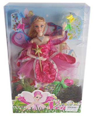 Кукла Shantou Gepai 29 см Фея в роз.платье, шарнирная, кор.