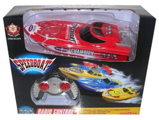 Катер на радиоуправлении Shantou Gepai Speed Boat пластик от 3 лет ассортимент катер на радиоуправлении shantou gepai yacht racing пластик от 3 лет цвет в ассортименте 4 канала