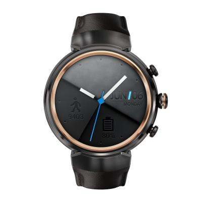 Смарт-часы ASUS ZenWatch 3 WI503Q серый с коричневым кожаным ремешком
