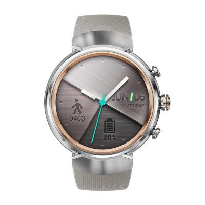 Смарт-часы ASUS ZenWatch 3 WI503Q серебристый с бежевым резиновым ремешком смарт часы asus zenwatch 3 wi503q silver серебристый кожаный ремешек wi503q 2lbge0006 90nz0063 m00160