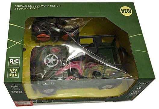 Военный автомобиль на радиоуправлении Shantou Gepai Военный джип 635560 пластик от 3 лет зелёный