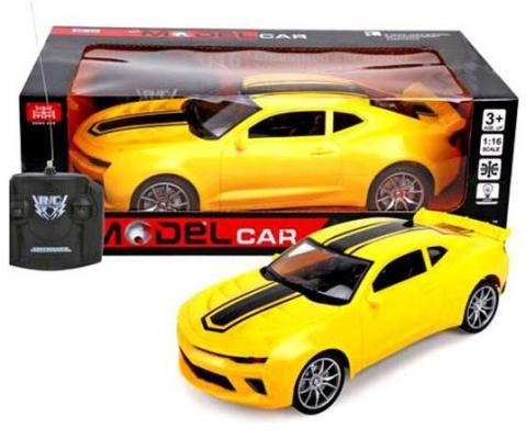 Машинка на радиоуправлении Shantou Gepai Model Car 635573 пластик от 3 лет желтый