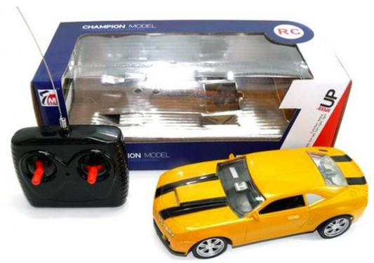 Машинка на радиоуправлении Shantou Gepai Champion Model пластик от 6 лет желтый 1:22, 4 канала, 628690