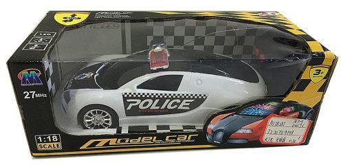 Машинка на радиоуправлении Shantou Gepai Полиция 635422 пластик от 3 лет черно-белый