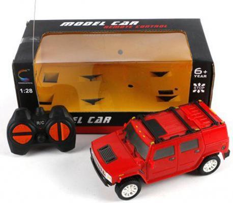 Машинка на радиоуправлении Shantou Gepai красный от 6 лет пластик 1:28, 4 канала 5137A автомобиль на радиоуправлении noname dl0031129 4 канала на батарейках красный