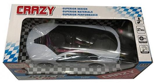 Машинка на радиоуправлении Shantou Gepai Crazy - Спорткар пластик от 3 лет белый 1:20, 2 канала, 3D свет 635556