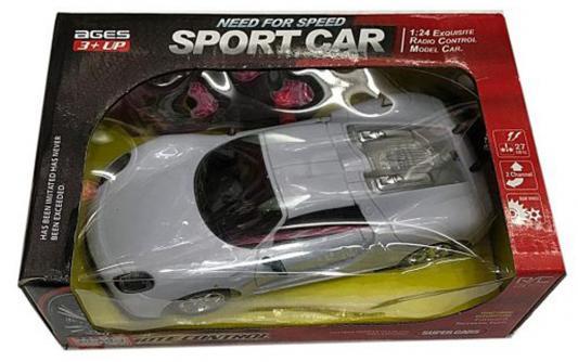 Машинка на радиоуправлении Shantou Gepai Sport Car пластик от 3 лет серебристый 2 канала, 1:24