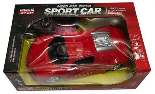 """Машинка на радиоуправлении Shantou Gepai Need for Speed """"Sport Car"""" - Bugatti Veyron пластик от 3 лет красный 2 канала, 1:24"""