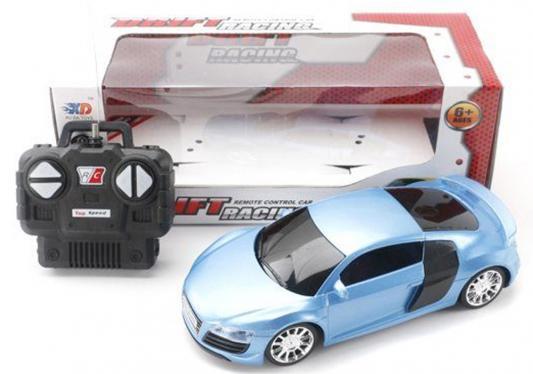 Машинка на радиоуправлении Shantou Gepai Drift Racing пластик от 6 лет голубой 4 канала, свет