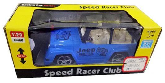 Машинка на радиоуправлении Shantou Gepai Speed Racer Club - Джип пластик от 3 лет синий 2 канала, 1:20