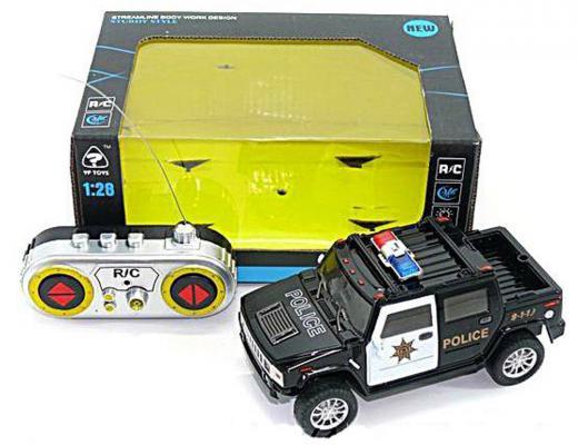 """Машинка на радиоуправлении Shantou Gepai """"Полицейский джип"""" пластик от 3 лет черный 1:28, 4 канала 628694"""