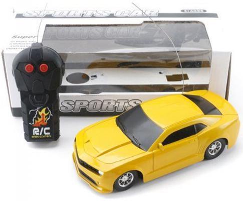 Машинка на радиоуправлении Shantou Gepai Sport Car пластик от 3 лет желтый 2 канала