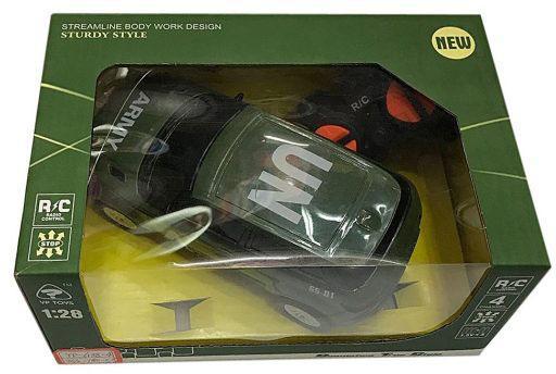 Машинка на радиоуправлении Shantou Gepai Военная 635559 пластик от 3 лет зелёный машинка на радиоуправлении shantou gepai auto world от 3 лет зелёный пластик 4 канала свет 1 12