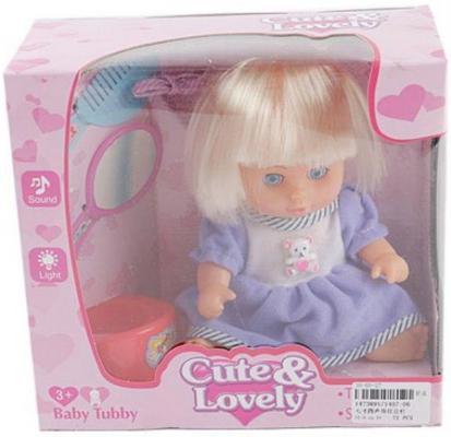 Купить Кукла Shantou Gepai 20 см в голубом костюме, с аксесс., коробка 1407-06, пластик, Классические куклы и пупсы