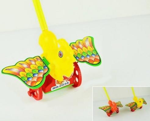 Каталка на палочке Shantou Gepai Петушок разноцветный от 3 лет пластик в ассортименте