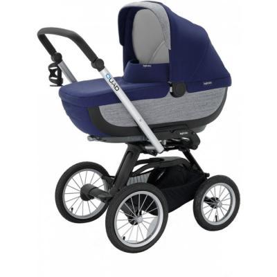 Купить Коляска для новорожденного Inglesina Quad на шасси Quad XT Black (AB60F6ART + AE64G0000), серый, синий, Коляски для новорожденных