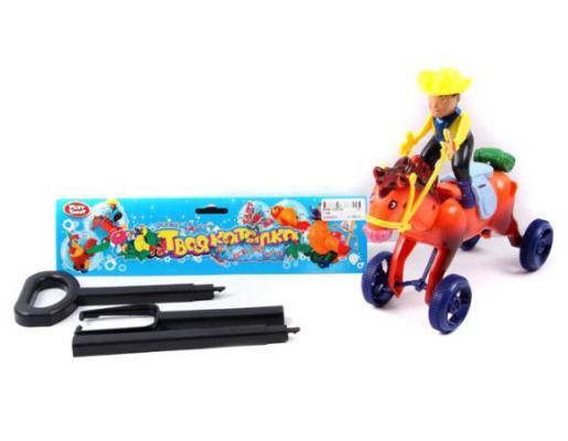 Каталка на палочке Shantou Gepai Ковбой пластик от 1 года на колесах разноцветный 1199 каталка на палочке shantou gepai пеликан разноцветный от 1 года пластик