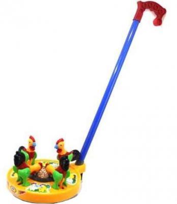 Каталка на палочке Shantou Gepai Карусель Петушки разноцветный от 3 лет пластик каталка на палочке shantou gepai бабочка 941720 пластик от 1 года на колесах разноцветный 1200