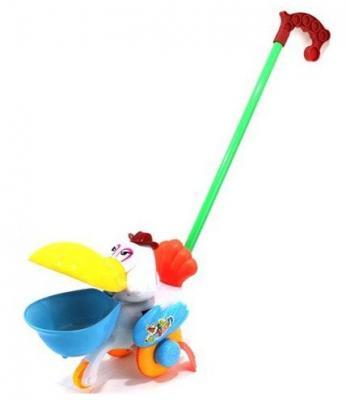 Каталка на палочке Shantou Gepai Пеликан разноцветный от 1 года пластик каталка на палочке shantou gepai пеликан разноцветный от 1 года пластик