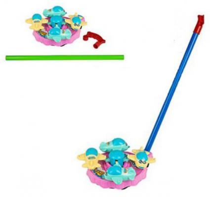 Каталка на палочке Shantou Gepai Карусель самолетики цвет в ассортименте от 3 лет пластик
