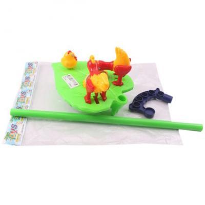 Купить Каталка на палочке Shantou Gepai Птичий двор пластик от 3 лет на колесах разноцветный 885, унисекс, Каталки на палочке / на шнурке