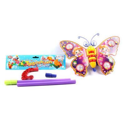 Каталка на палочке Shantou Gepai Бабочка 941720 пластик от 1 года на колесах разноцветный 1200 каталка playgo play 1765 пластик от 1 года на колесах разноцветный
