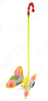 Каталка на палочке Shantou Gepai бабочка-погремушка желтый от 1 года пластик каталка на палочке shantou gepai бабочка 941720 пластик от 1 года на колесах разноцветный 1200