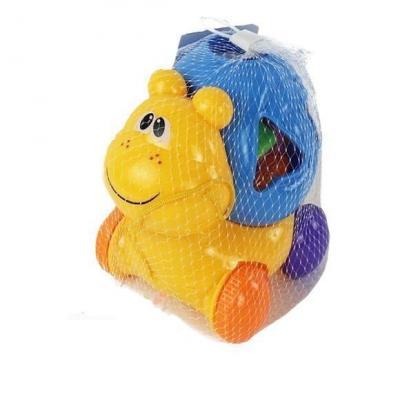 Каталка на шнурке Shantou Gepai Улитка-сортер разноцветный от 1 года пластик каталка на палочке shantou gepai бабочка 941720 пластик от 1 года на колесах разноцветный 1200