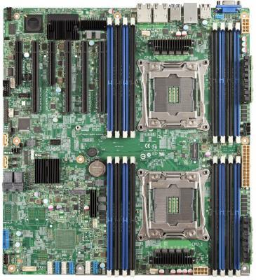 Мат. плата для ПК Intel DBS2600CWTR Socket 2011 C612 16xDDR4 4xPCI-E 16x — 1xPCI-E 4x 1xPCI-E 8x 10xSATAIII SSI EEB 943805