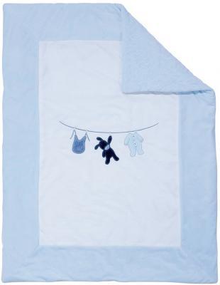 Купить Плед Nattou 75х100см Alex & Bibou Ослик и Кролик (321426), голубой, 75 х 100 см, Одеяла и пледы