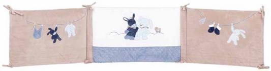 Бортик для кровати универсальный Nattou Alex & Bibou Ослик и Кролик (321389)