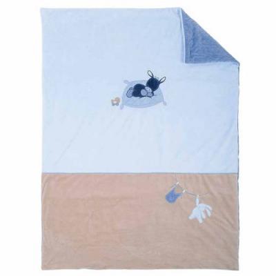 Купить Плед Nattou 100*135см Alex & Bibou Ослик и Кролик (321433), голубой, 100 х 135 см, Одеяла и пледы