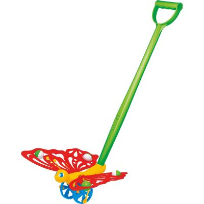 Купить Каталка на палочке Стеллар Бабочка пластик от 1 года на колесах разноцветный 1363, СТЕЛЛАР, унисекс, Каталки на палочке / на шнурке