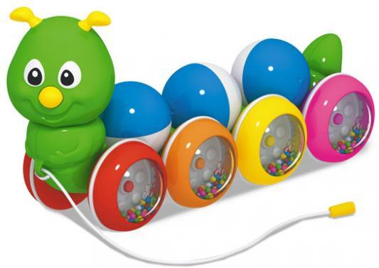 Купить Каталка на шнурке Стеллар Гусеница с шариками разноцветный от 1 года пластик 01391, СТЕЛЛАР, унисекс, Каталки на палочке / на шнурке
