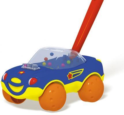 Купить Каталка на палочке Стеллар Машинка цвет в ассортименте от 1 года пластик, для мальчика, Каталки на палочке / на шнурке