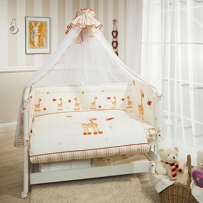 Постельный сет 7 предметов Перина Кроха Жирафики (бежевый) постельный сет 4 предмета перина фея лето розовый