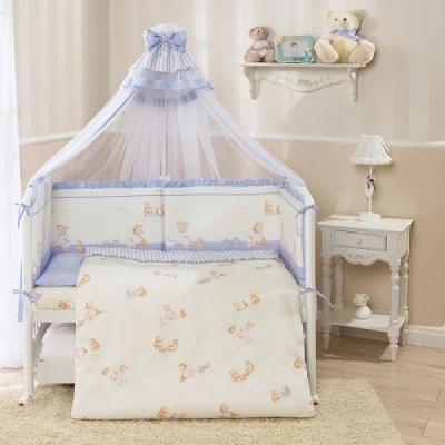 Постельный сет 4 предмета Перина Тиффани Неженка (голубая) постельный сет 4 предмета перина фея лето розовый