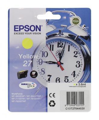 Картридж Epson C13T27044020 для Epson WF7110/7610/7620 желтый 350стр