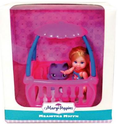 "Кукла Mary Poppins ""Малютка Мэгги"" с кроваткой 9 см 451178"