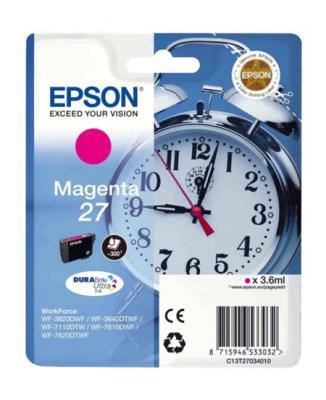 Картридж Epson C13T27034020 для Epson WF7110/7610/7620 пурпурный 350стр