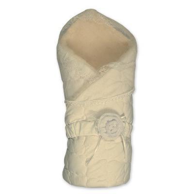Конверт-одеяло с мехом Сонный Гномик Венеция (экрю)
