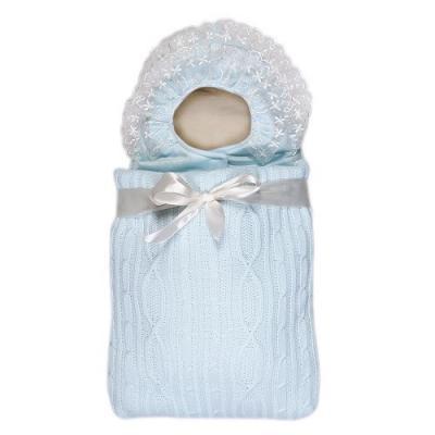 Конверт с 2-ми молниями Сонный Гномик Снежная Сказка (голубой) конверт детский сонный гномик конверт с ручками счастливчик голубой