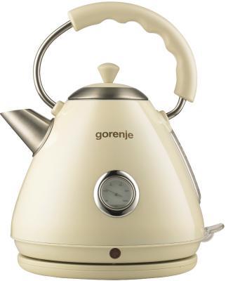 Чайник Gorenje K17CLI 2200 Вт бежевый 1.7 л металл/пластик электрический чайник gorenje k17cli бежевый k17cli